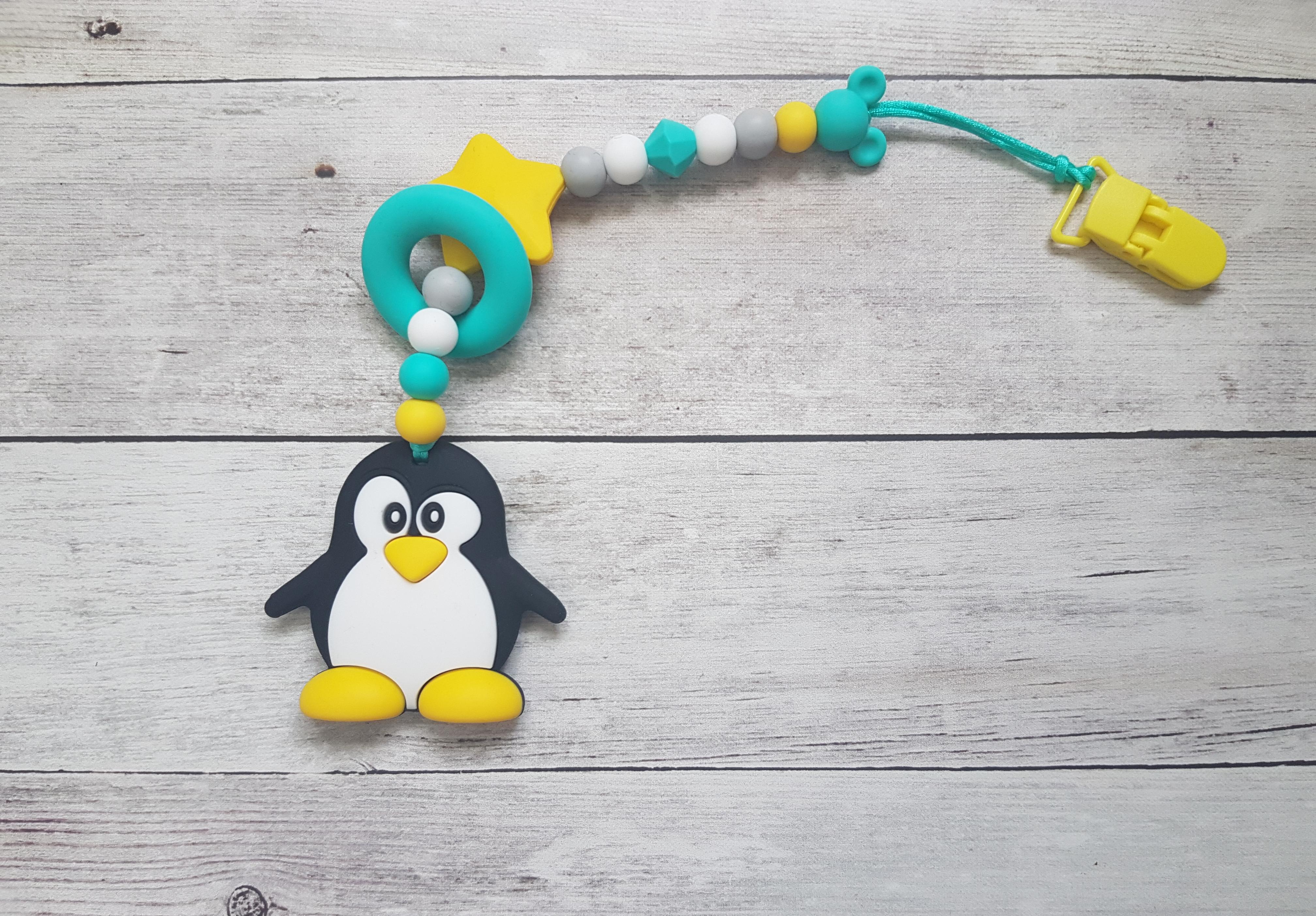 Egy ágú színes rágóka (pingvin)